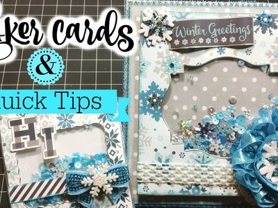 *Hello Winter* Shaker Cards + Tips!