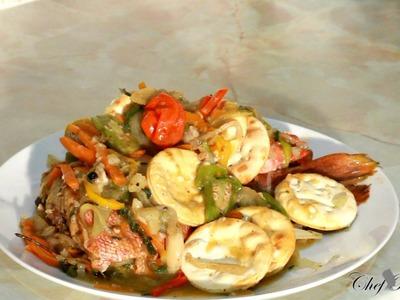Jamaican Steamed Fish Recipe Video-Jamaican Steamed Fish Recipe Video