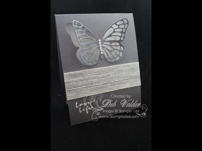 Laser Cut Technique using the Butterfly Thinlit with Deb Valder