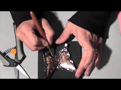 Metal Embossed Butterfly Technique (Technique Hop)