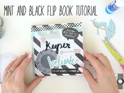Mint and Black flipbook Tutorial