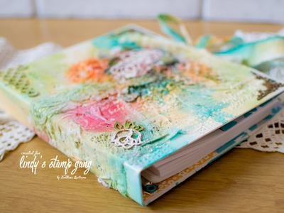 Mixed media cover for diary