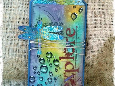 Mixed Media   Dragonfly Tag Tutorial