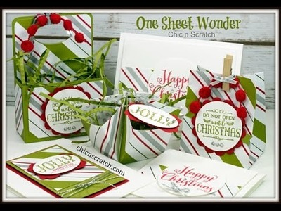 One Sheet Wonder -  Featuring Oh What Fun Stamp Set by Stampin' Up!