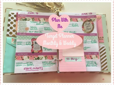 Plan With Me! Target Dollar Spot Planner | MONTHLY & WEEKLY!!