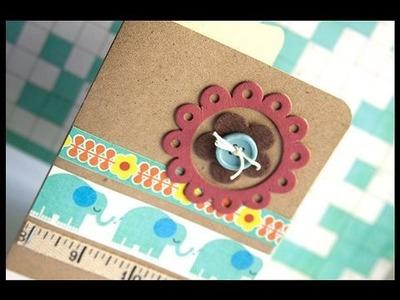 Retro Elephant - Make a Card Monday #64