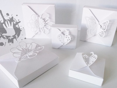 Scatola regalo con envelope punch board. gift box with envelope punch board