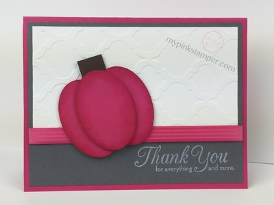 Stampin' Up! Halloween Pink Pumpkin Card Tutorial - Episode 418