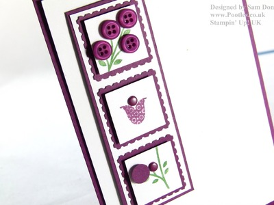 Stampin Up UK Bright Blossoms Simple Card