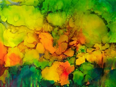 Step-by-step Tutorial how to paint with Alcohol Inks