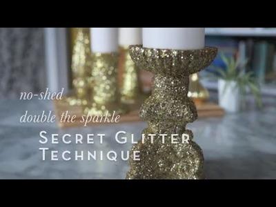 Super Secret Glitter Technique Using Tacky Glue