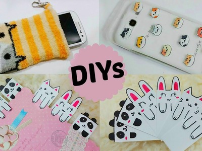 3 Creative & Cute DIYs: DIY Animal Face Bookmarks+DIY Neko Atsume Phone Case & Phone Pouch