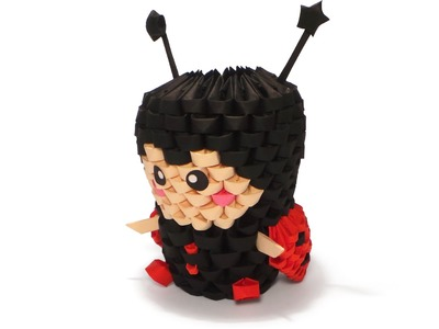 3D Origami Ladybug Tutorial