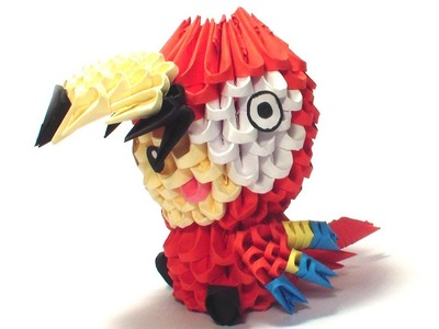 3D origami parrot kid tutorial