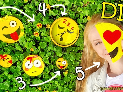 5 DIY Emoji Projects – DIY Emoji Pencil Case, Notepad, Earrings, Wall Clock and Pocket Mirror