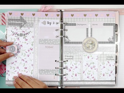 #7 How I set up my daily pages for my kikki.K Planner | DECORATE WITH ME | Filomioz