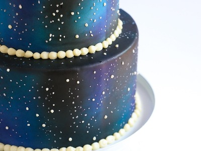 Airbrushed Galaxy Cake Tutorial