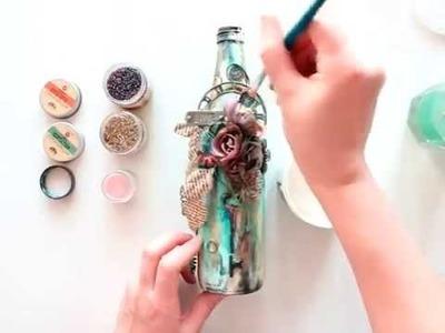 Altered Art Bottle for Finnabair CT