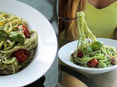 Best Creamy Spaghetti! - Healthy & Vegan. Vegetarian