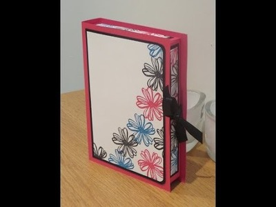 Book Box Card Gift Set Tutorial Using Flower Shop by Stampin' Up