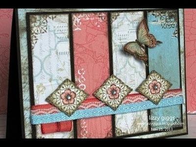Card Tutorial #1 Vintage Butterflies (CLA400b)