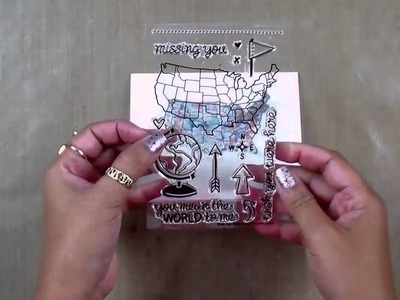 Cardmaking With Black Brusho Crystals