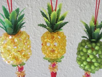 CNY TUTORIAL NO. 36 - Bead Craft (Hanging Pineapple)
