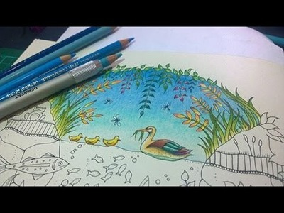 Colouring Tutorial: Colour With Peta.  Duck Pond, Part1.