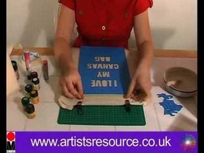Decorate your Canvas Shopping Bag- Fabric Painting Textiles Project - Art and Craft