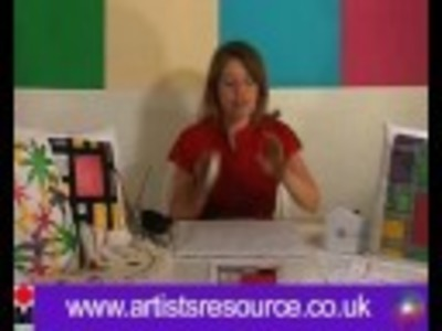 Decorate your Home Fabrics- Fabric Painting Cushion Covers Textiles Project - Art and Craft
