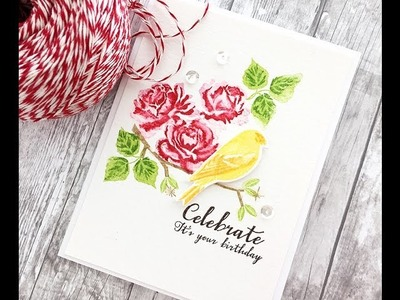 Design Team Tips: Watercoloring With Stamps