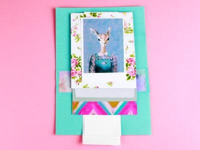 DIY Waterfall Greeting Card