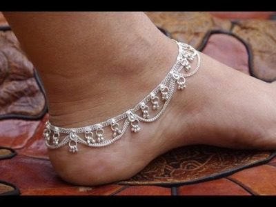 Easy Hand Made FOOT CHAIN making youtube
