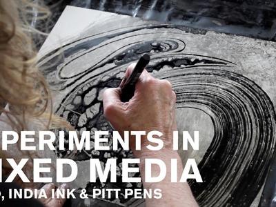 Experiments in Mixed Media: Yupo, India Ink and Pitt Pens