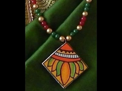 Fashion Jewellery making : Kerala mural painting pendent