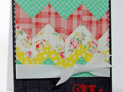 Finally Friday with Julie Campbell: Chevron Greetings