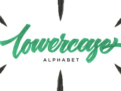Hand Lettering Tutorial for Beginners | Lowercase Alphabet