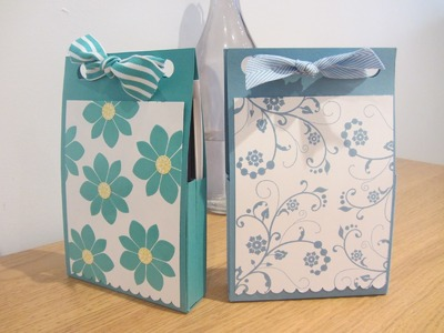 Hand made card gift box with Stampin' Up UK products.