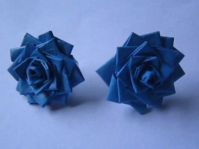 Handmade Jewelry - Paper Rose Earrings (DT)