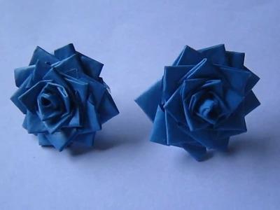 Handmade Jewelry - Paper Rose Earrings (DT)