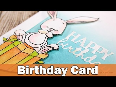 Happy Birthday Card | Bunny on present