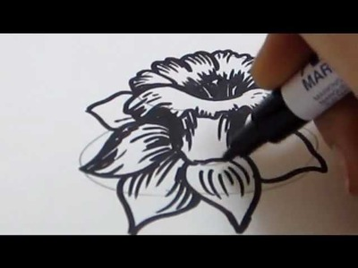 How To Draw Flowers - Daffodil Tutorial