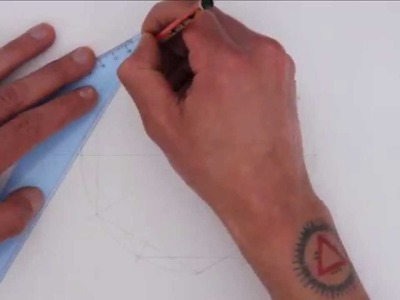 How to draw Islamic geometry - full tutorial - basic construction of an extended 12-fold rosette