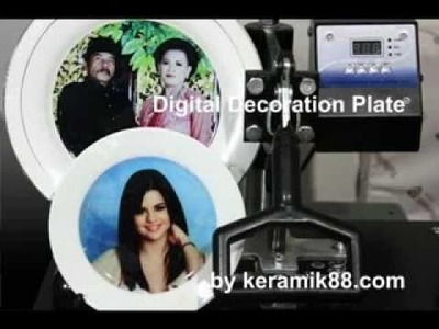 How to make digital decoration plate by keramik88