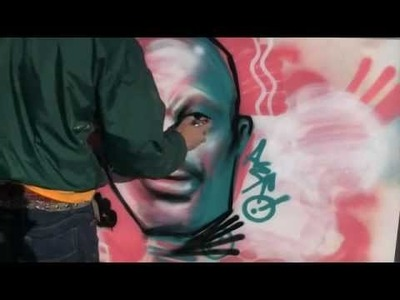 How to spray paint a face using 4 colors tutorial