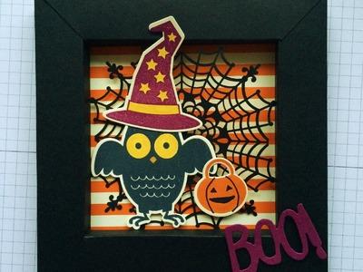 Howl O Ween Treats Shadow Box Card