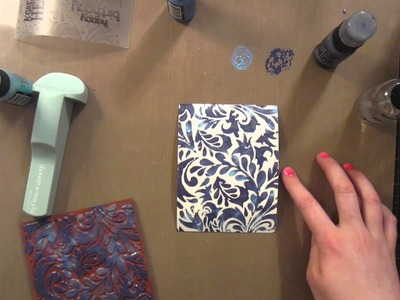 Layered Stamping with Distress Paint by Britta Swiderski