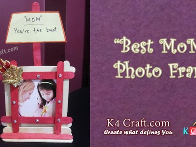 "Learn How to make Ice cream stick ""Photo frame"" at Home 