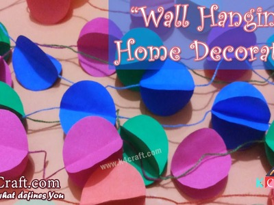 "Learn How to make Paper ""Ceiling Hanging Decoration"" at Home 