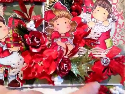 Magnolia Tilda Christmas Easel Step Card